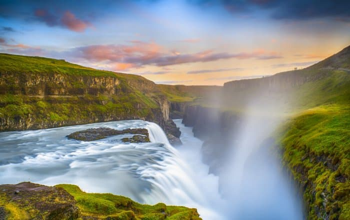Gullfoss gives two waterfalls in one