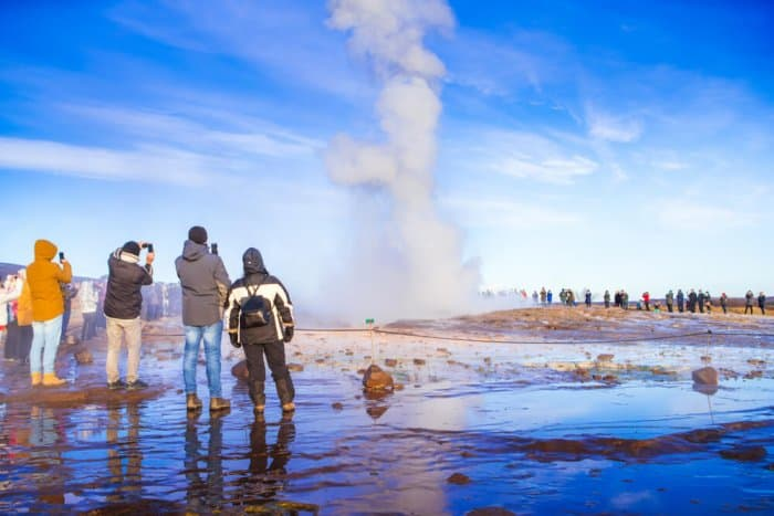 Tourist gathering at certain points is a consequence of Iceland's Tourism Industry growth