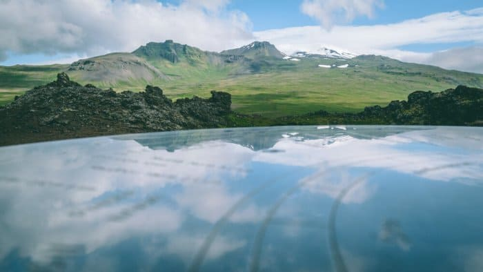 Snæfellsjökull mount mentioned in Jule Vernes¡s book is a stop in your Road trip in Iceland