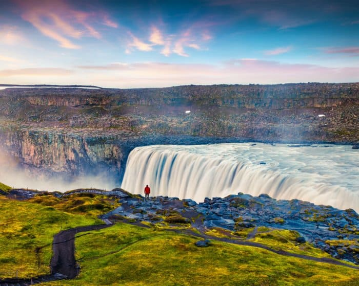 Detifoss one of the best waterfalls in Iceland, easyly acessible