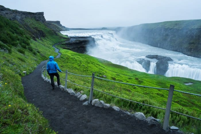 Gullfoss waterfall is a highlight of Iceland's Golden Circle