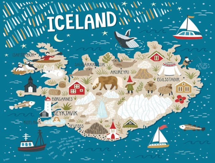 Iceland On A Map Where are the regions of Iceland on a map?   Camping in Iceland