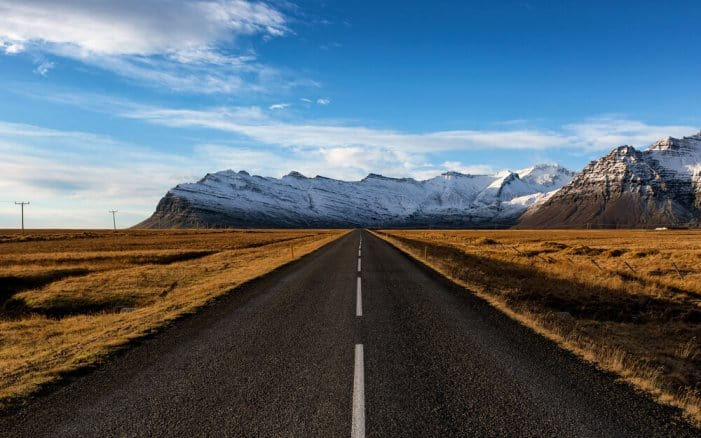 The southern part of Iceland's Ring Road