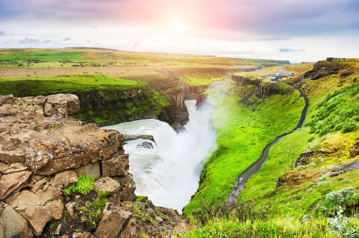 Gullfoss falls are a must-see on a 7-day itinerary of Iceland's Ring Road
