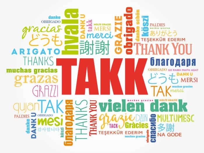 Takk means