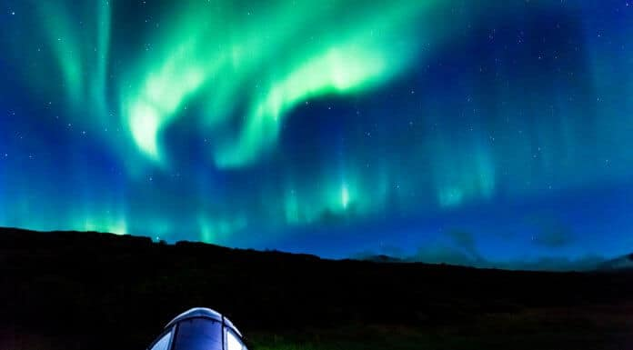 Tent camping in Iceland under the Northern Lights
