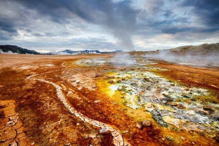 The Mars-like landscapes of Hverir geothermal area near Lake Mývatn