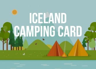 Information about Iceland Campingcard vector drawing