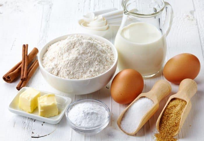 Fresh ingredients for baking at a Reykjavik's Sandholt bakery