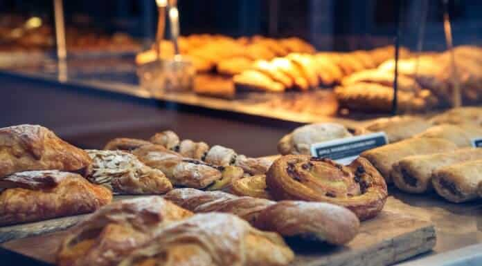 Delicious breakfast treats at the bakery counter