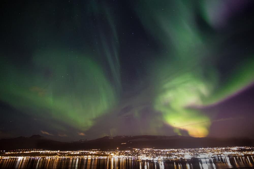 Iceland's Northern Lights over Akureyri