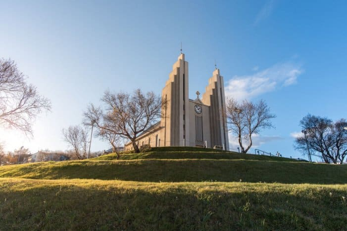 The Akureyri church on the hill