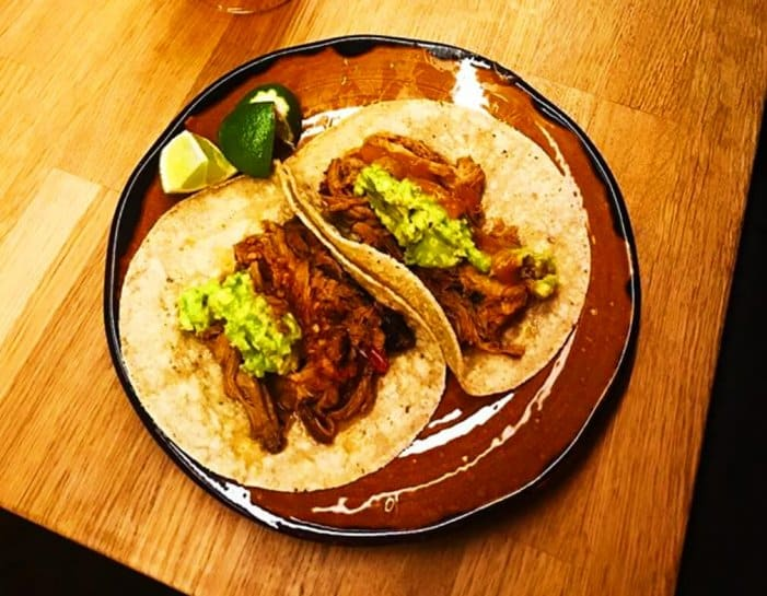 Tasty authentic Mexican tacos from La Poblana in Hlemmur food hall