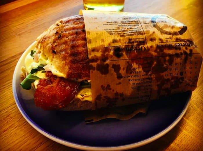 A tasty sandwich from Skál!