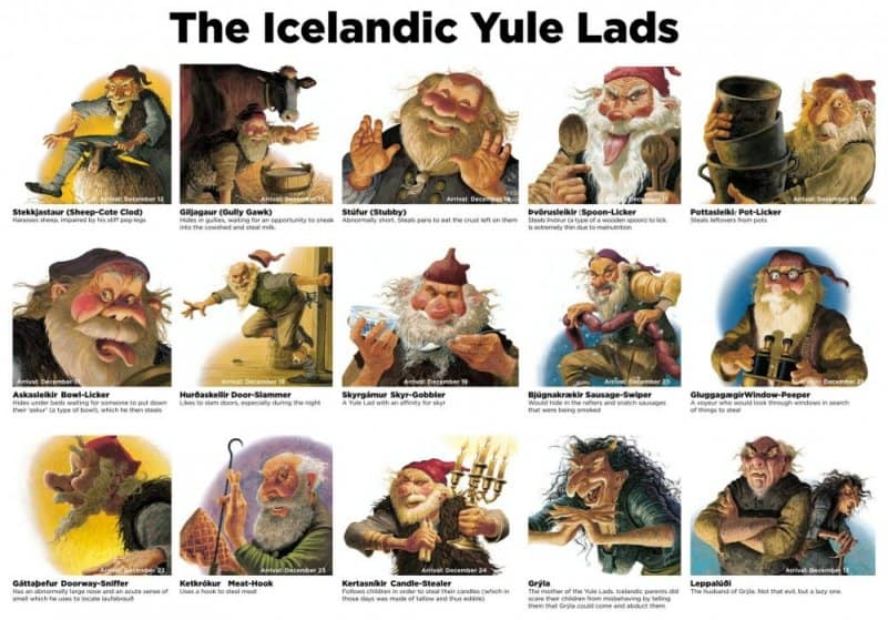 Iceland's 13 naughty Yule Lads are part of the 13 days of Christmas