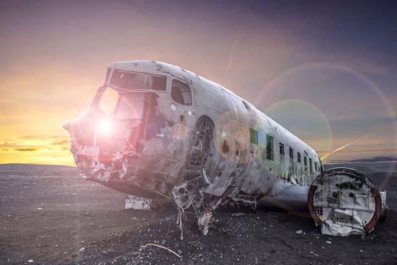DC-3 plane wreck at Solheimasandur black sand beach