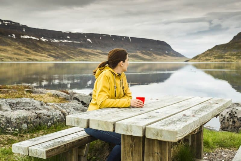 Icelandic woman reflecting on thetta reddast. It means everything will turn out ok.