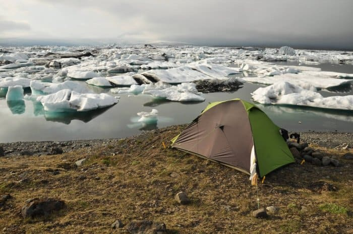 Consider capacity when picking the best tent for camping in Iceland