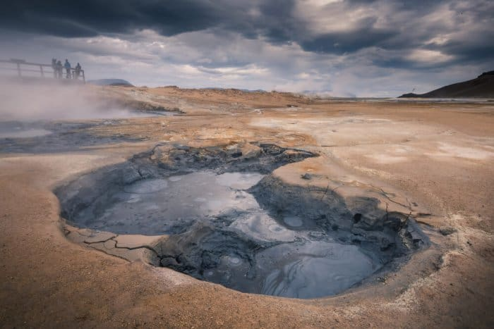 The Hverir geothermal area is a must do on your campervan road trip itinerary for Iceland
