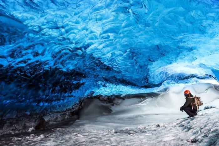 Vatnajökull National Park's glacier caves are stunning
