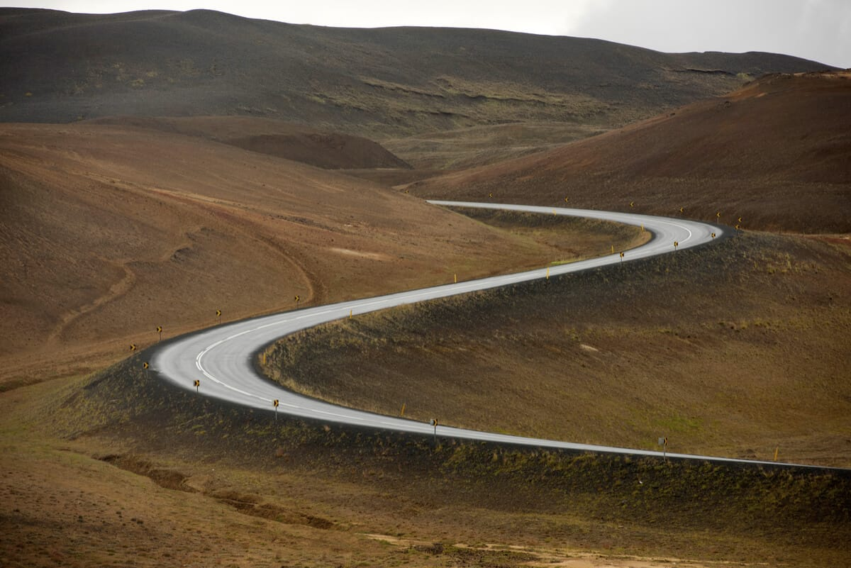 Curving Iceland's Ring Road with reduced speed limit