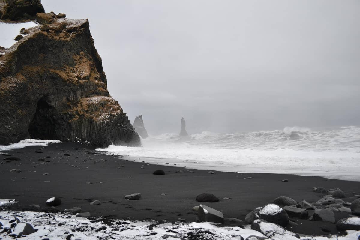Beware of sneaker waves at Iceland's black sand beach