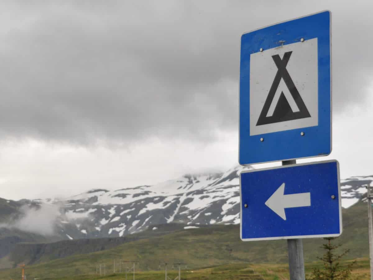 Camping in Iceland in April and May campsites