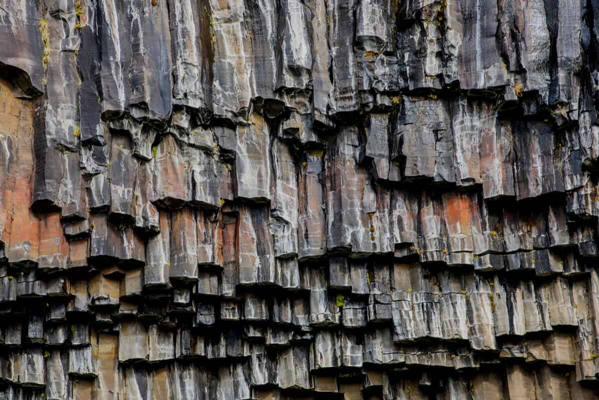 The black basalt columns of Svartifoss waterfall