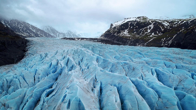 Skaftafell glacier in Vatnajökull National Park
