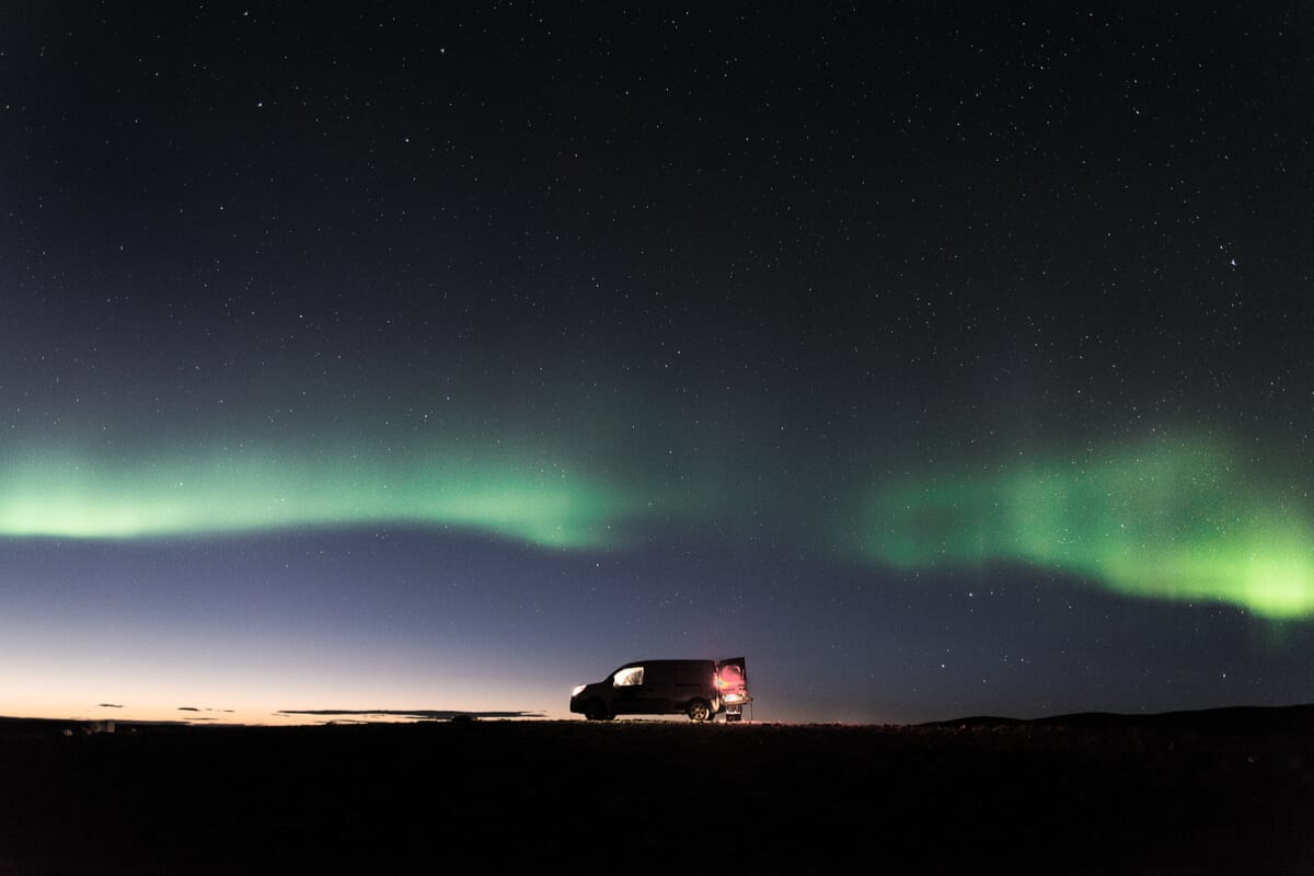 An Iceland Northern Lights tour with the right camper rental