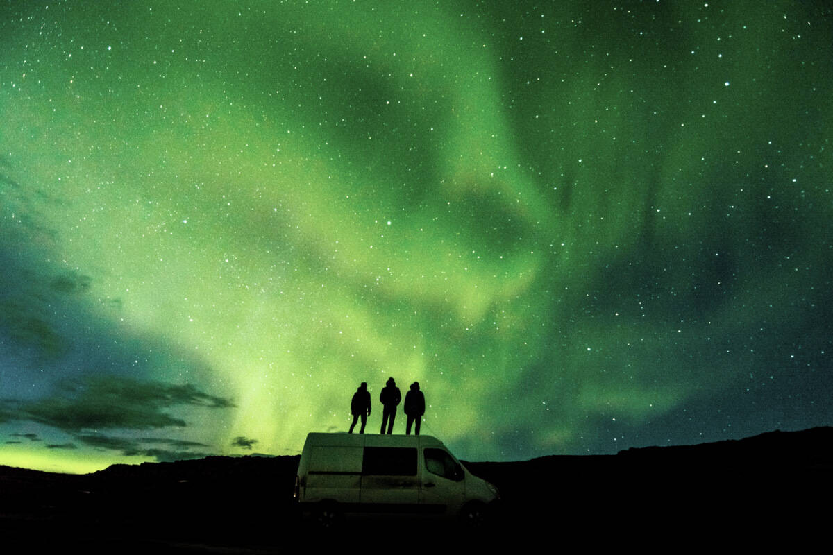 4x4 camper rental in Iceland to see the Northern Lights