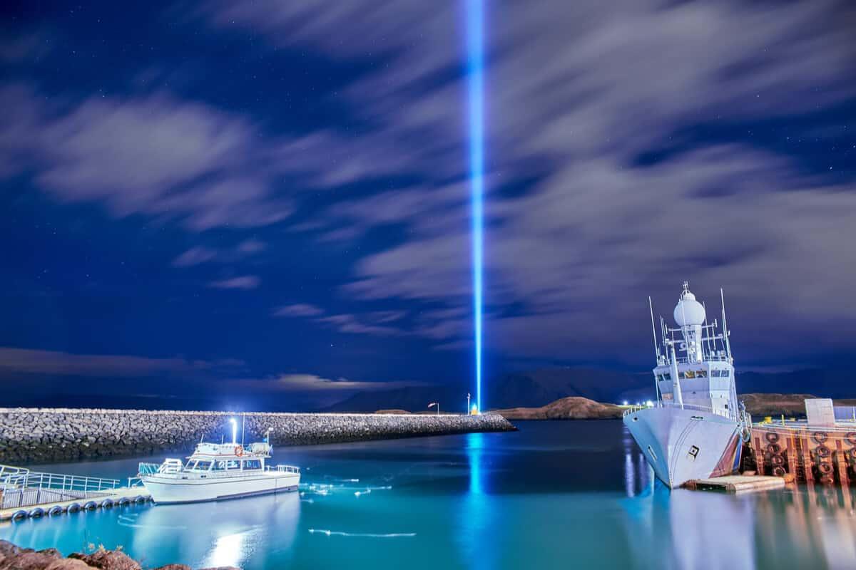 Imagine Peace Tower Videy Island