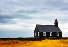One of Iceland's prettiest churches is the Budir black church