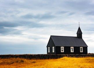 One of Iceland's prettiest churches is the Budir black church