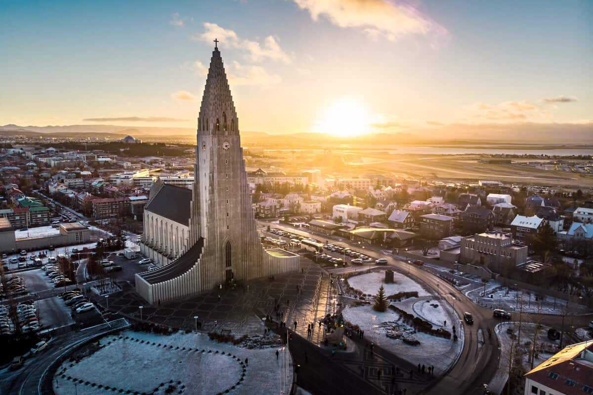 Hallgrimskirkja is one of Iceland's prettiest churces