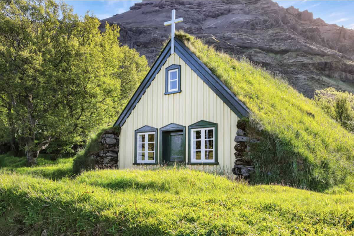 Turf churches are some of Iceland's prettiest churches