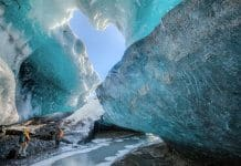 Day tours in Iceland to ice caves are an exciting activity