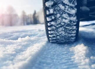 Studded snow tires in Iceland