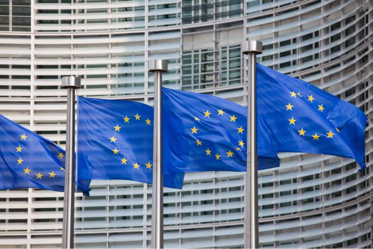 Is Iceland in the EU. Colorful EU flags