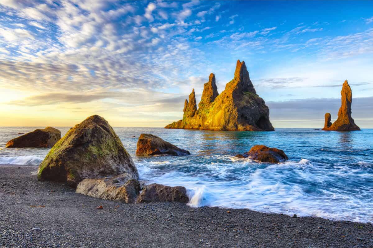 Iceland Trolls Reynisdrangar Rock
