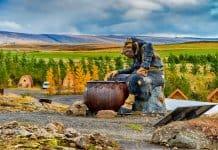 Iceland trolls statue