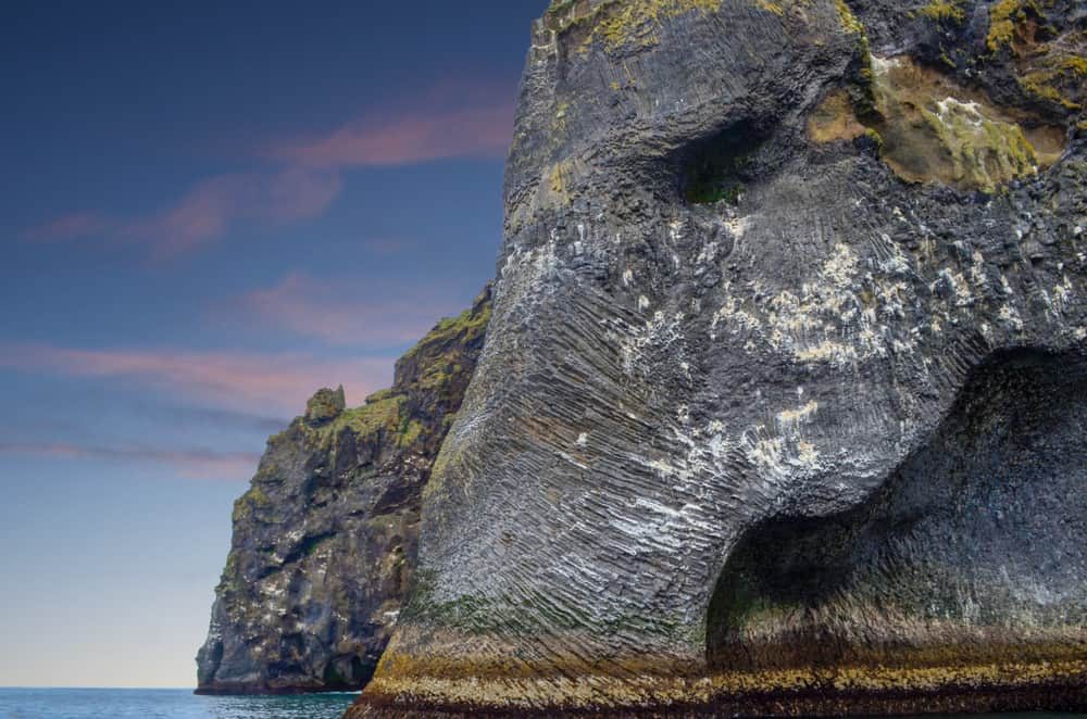 elephant rock in Iceland close up picture