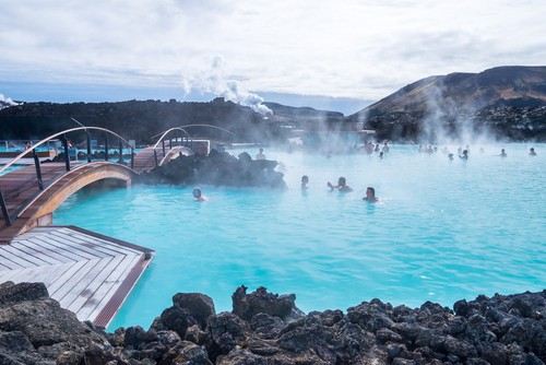 Blue lagoon on the Reykjanes Peninsula